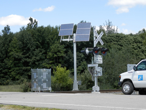 Solar Power Systems for Railroad Crossings